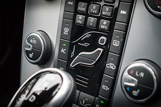 photo of car air conditioning controls on dashboard