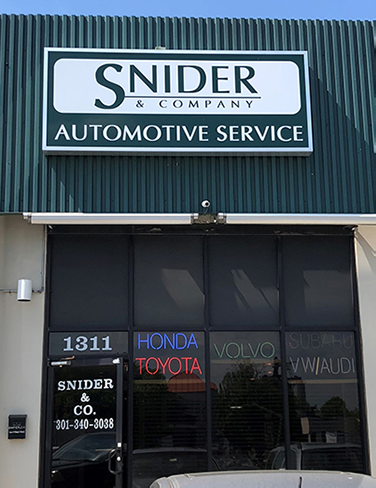 photo of snider and co. auto repair store front